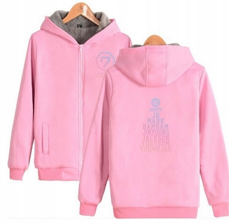 Warm KPOP Hood T-shirt GOT7 UNISEX L 40 9658456934 Odzież Damska Topy XG GUJMXG-9