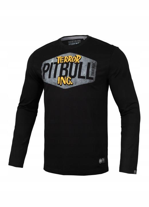 Pitbull Longsleeve Scare (M) Czarny 9652305856 Odzież Męska Koszulki z długim rękawem IM TSQVIM-3