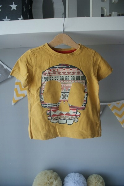 F&F Next trzy koszulki komplet czaszka 98/104 9756291533 Dziecięce Odzież TN FSGMTN-1