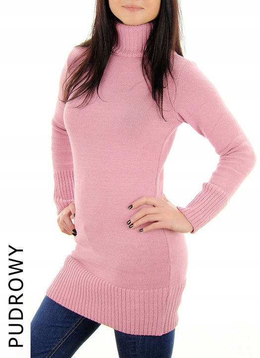 CIEPŁY SWETER GOLF S M L PRODUKT POLSKI 9736767753 Odzież Damska Swetry WF YRYIWF-7