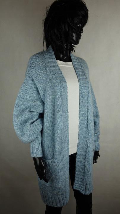 ButikNo5 Sweter Płaszcz Kardigan Cocomore Błękitny 9673434329 Odzież Damska Swetry OF HHKTOF-6