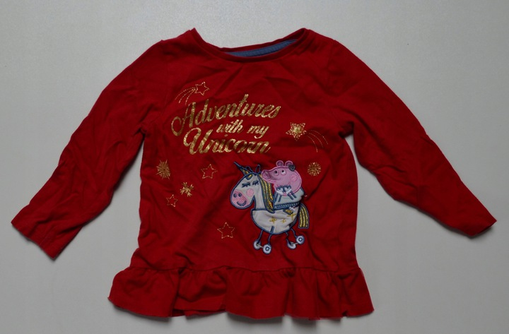 146. nutmeg bluzka świąteczna Świnka Peppa 2-3 l. 9809874754 Dziecięce Odzież ML QUZOML-5
