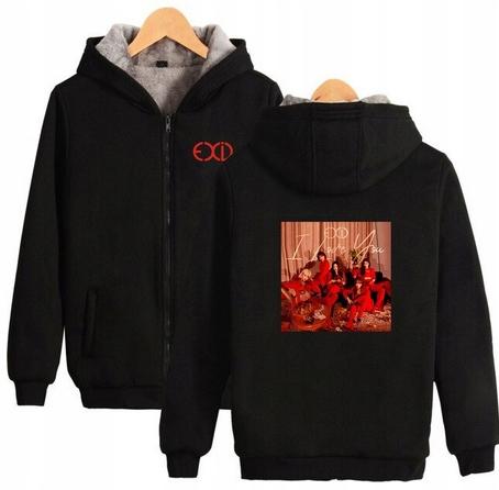 Warm blouse with EXID Hood 2019 S 36 9658268879 Odzież Damska Topy VJ ZTOTVJ-2