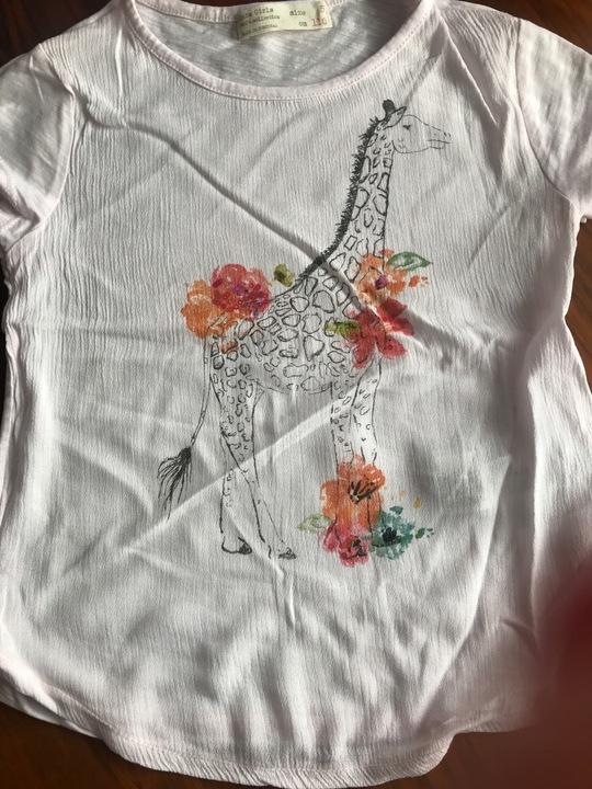 A. Zara cudo Koszulka kwiaty żyrafka 9929368188 Dziecięce Odzież MO NKKCMO-3