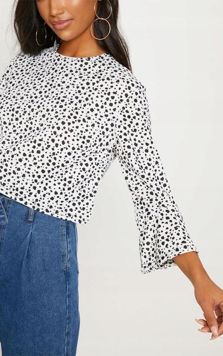 C393 PRETTYLITTLE krÓtka bluzka dalmatyńczyk 36 9726934632 Odzież Damska Bluzki DH IXMADH-6