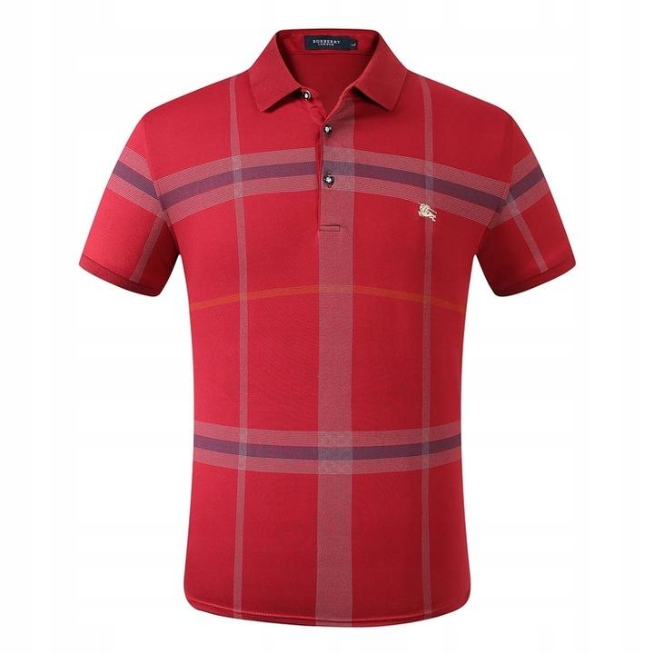Burberry plaid short-sleeved lapel polo shirt 9617687783 Odzież Męska Koszulki polo WE WUPMWE-6