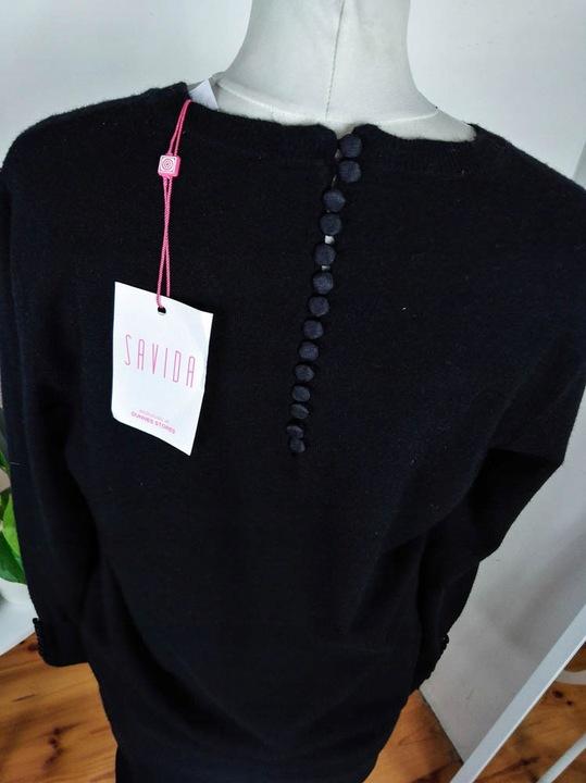 Czarny sweter Savida r. 42 9811400839 Odzież Damska Swetry WN HKAGWN-3