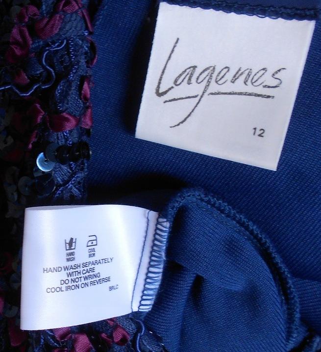 Lagenes urocza sukienka Vintage ,cekiny M L 9826677183 Odzież Damska Sukienki wieczorowe HF MEVVHF-1