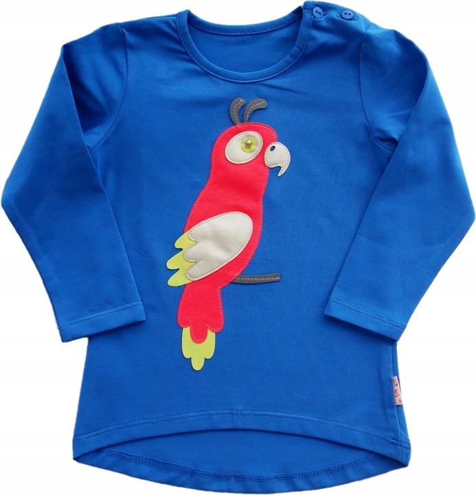Bluzeczka z papugą polski producent 92 9754905882 Dziecięce Odzież IG QUBBIG-9