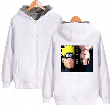 Warm blouse with ANIME Naruto L 40 Hood 9658448258 Odzież Damska Topy VM WDJZVM-3