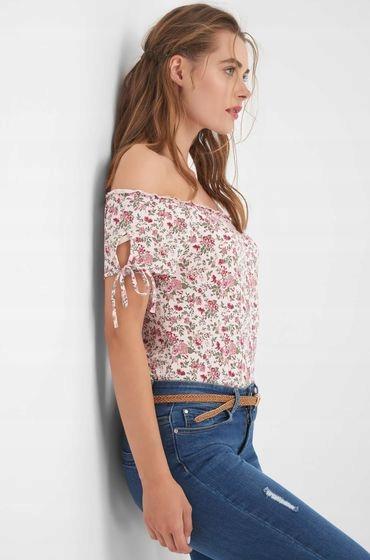 ORSAY bluzka koszulka w kwiatuszki carmen XL 9722450918 Odzież Damska Bluzki VC JWBVVC-8