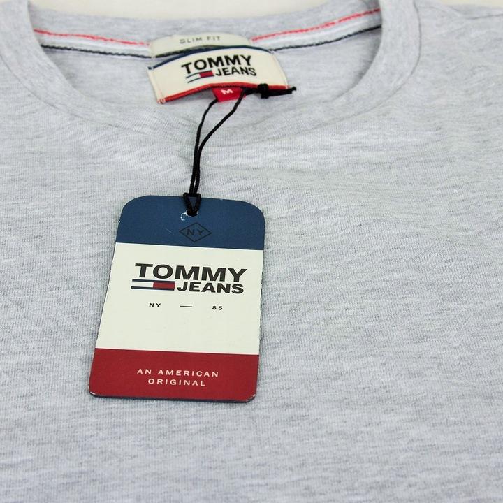 LONGSLEEVE TOMMY HILFIGER KOSZULKA TEE SZARY S 9633309817 Odzież Męska Koszulki z długim rękawem ZM ANSHZM-2