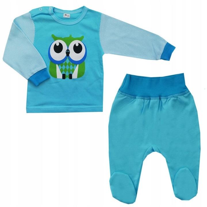 Wyprzedaż ! Komplet koszulka+pÓłśpioch 80 cm Sowa 9737561153 Dziecięce Odzież VI UKQHVI-1