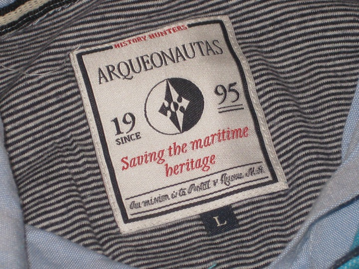 ARQUEONAUTAS - koszulka polo - nadruk roz. L 9634529794 Odzież Męska Koszulki polo FD JEXQFD-1