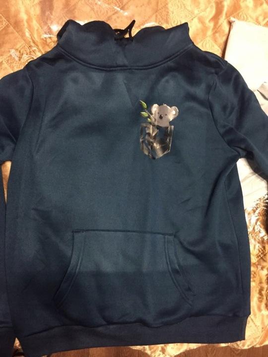 Women's blouse with KOALA printing Summer 9658265144 Odzież Damska Topy MG DEEXMG-1