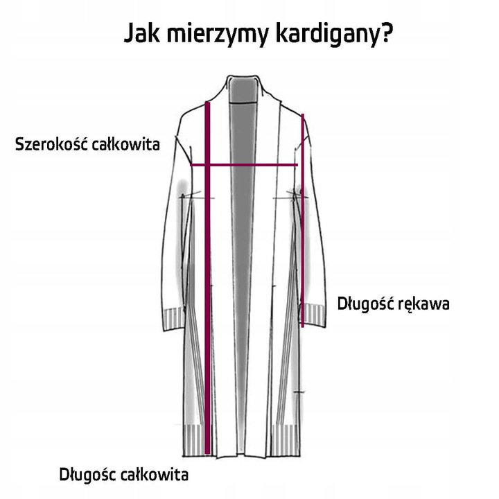 DŁUGI ELEGANCKI Kardigan GRUBY WYGODNY CIEPŁY L/XL 9737324957 Odzież Damska Swetry RE GKBIRE-5
