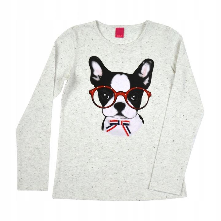 Bluzka piesek w okularach 134 cm 9872940138 Dziecięce Odzież NU CBLRNU-7