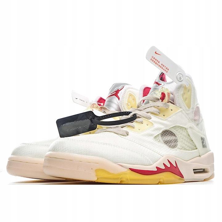 Nike Air Jordan 5 x Off White Sneakers 9841479665 Buty Męskie Sportowe RY UDPARY-9