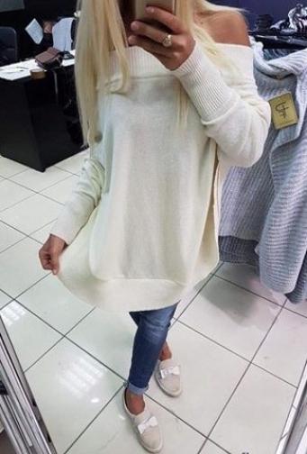 CUDNY sweter tunika PAPARAZZI O LA HIT 9301701603 Odzież Damska Swetry JZ MCUTJZ-4