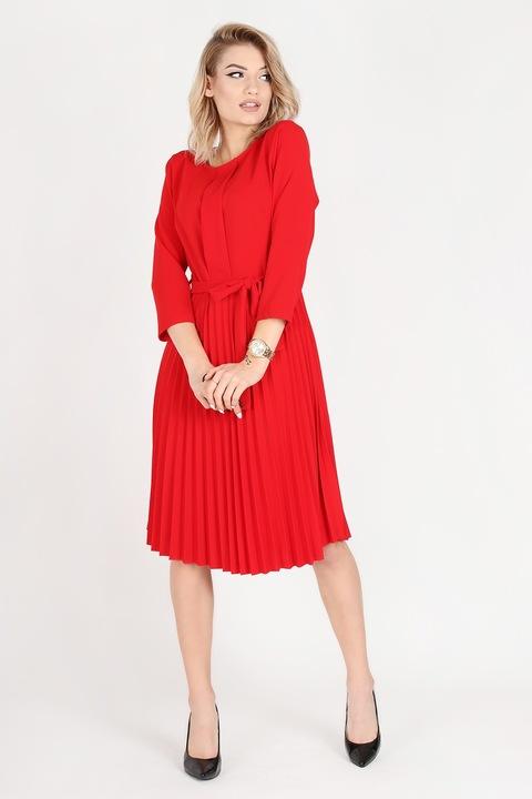 sukienka midi czerwona Uniwersalna komunia 36/38 9728362703 Odzież Damska Sukienki wieczorowe VY PGHIVY-9
