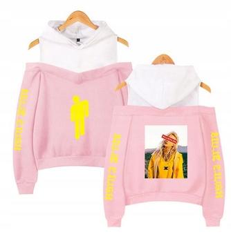 Warm hooded blouse Billie Eilish LATO S 36 9654104635 Odzież Damska Topy BD IMZIBD-7