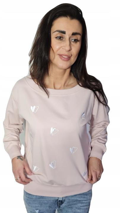 By o la la bluza serca pudrowy rÓż M 10451084626 Odzież Damska NF ZAWSNF-3