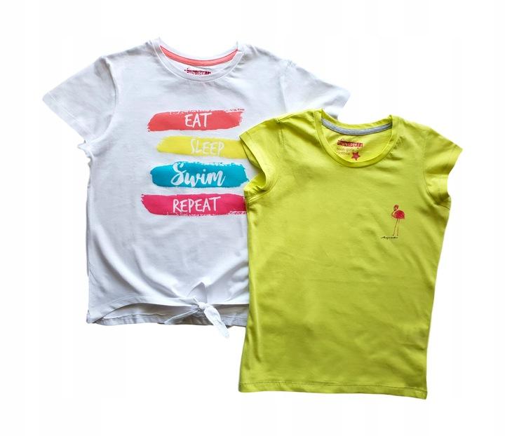 FLAMING 2pak bluzka koszulka t-shirt *134 9154400831 Dziecięce Odzież JJ XFOFJJ-3