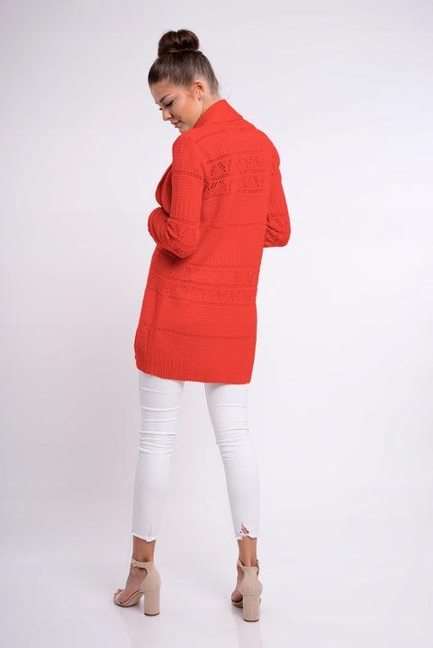 MARGARET AŻUROWY KARDIGAN SWETER NARZUTKA 9342544426 Odzież Damska Swetry VI WHZNVI-3