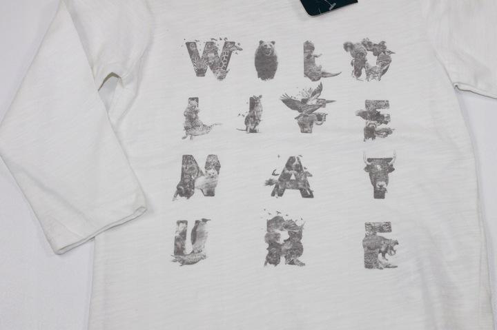 ZARA bluzka koszulka NADRUK WILD 2-3 lata 98 cm 9610077158 Dziecięce Odzież EL ZFILEL-9