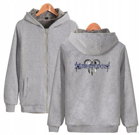 Warm hooded shirt with GRY Kingdom heart XL 42 9658456012 Odzież Damska Topy IQ MJMJIQ-3
