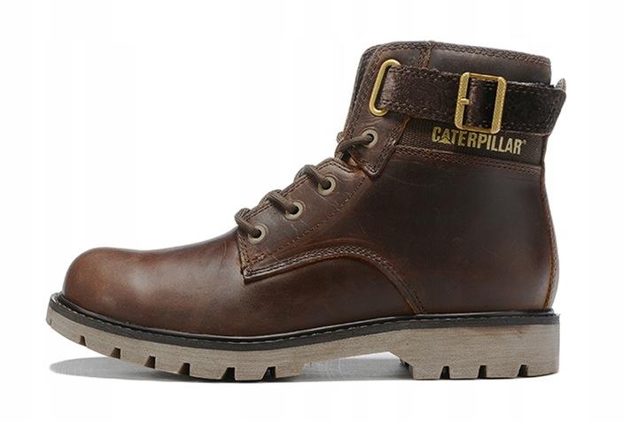 Caterpillar Buty CAT Cowboy Boots Brown High 9814466996 Buty Męskie Sportowe QI GLSSQI-5