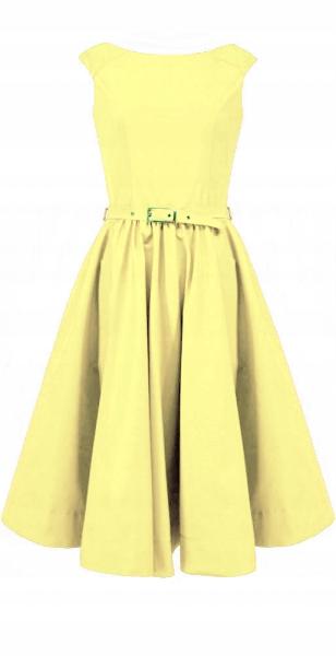 CAMILL 160 żÓłta rozkloszowana sukienka 44 9616623830 Odzież Damska Sukienki wieczorowe AX GZMIAX-4
