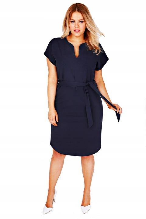 Linia Plus Size NAVY 44 46 48 50 52 54 56 58 60 9179758035 Odzież Damska Sukienki wieczorowe TR HJOXTR-7
