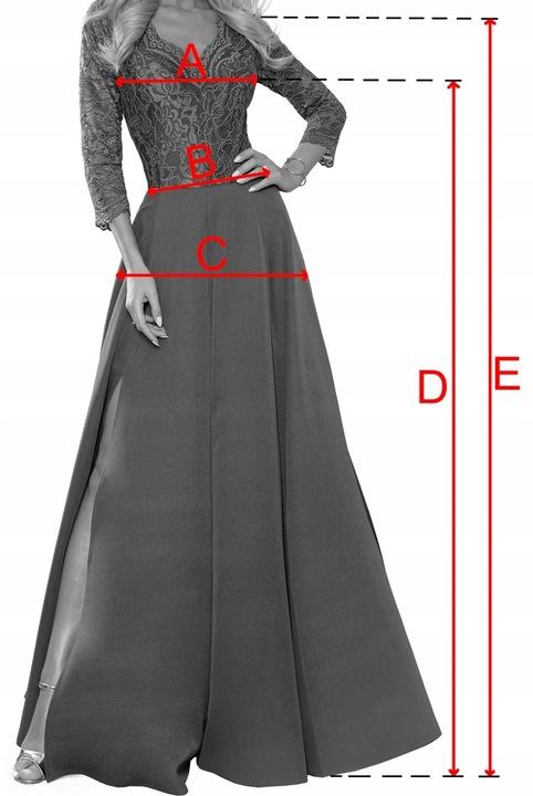 elegancka koronkowa długa suknia BORDOWA S 9695982939 Odzież Damska Sukienki wieczorowe PN JIOTPN-6