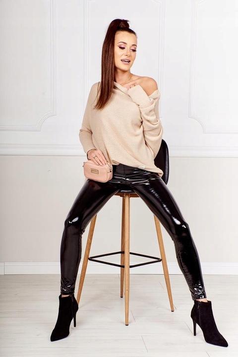 Luźny sweter flamingo beżowy Me Gusta Uni 9794857324 Odzież Damska Swetry EE WNPAEE-4