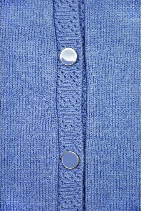 Damski Niebieski Sweter Kardigan Oversize 46/48 9768226476 Odzież Damska Swetry DR VKFBDR-4