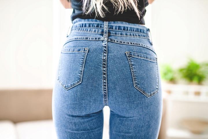Dopasowane rurki damskie spodnie dżinsy stan XXL 9393019838 Odzież Damska Jeansy ZS AZTPZS-5