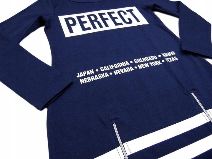 modna BLUZKA dziewczęca 511 *PERFECT* 10Y granat 9643782010 Dziecięce Odzież LT JVUHLT-7