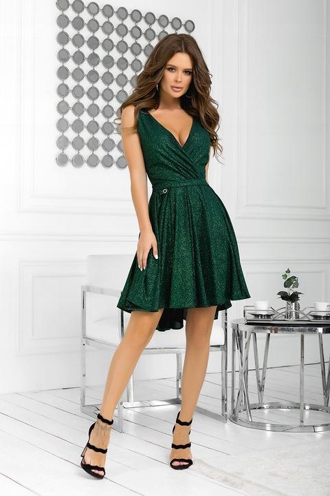 BIC 2215 asymetryczna sukienka 38 WESELE 9772465537 Odzież Damska Sukienki wieczorowe EO RGUOEO-5