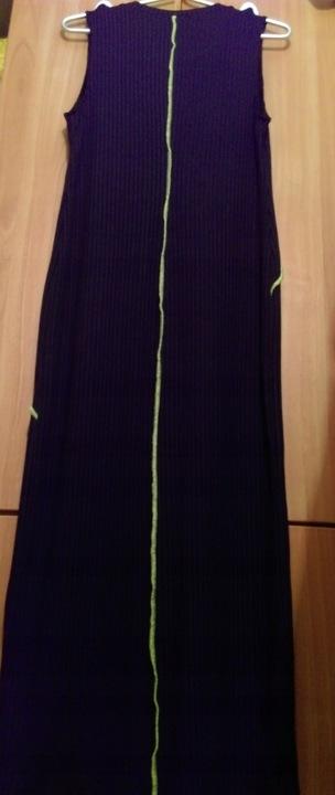 (38/M) ZARA/Czarna, długa sukienka z lamÓwką/ NOWA 9807826064 Odzież Damska Swetry FU FMPBFU-7