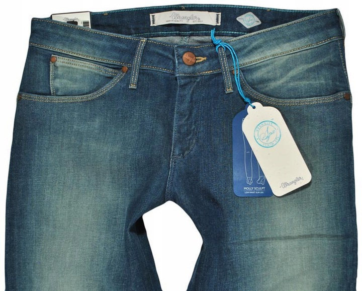 WRANGLER spodnie SLIM jeans blue MOLLY W25 L34 9438545706 Odzież Damska Jeansy FP FLOXFP-9
