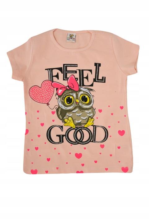 Bawełniana bluzka T-shirt 0517 rozmiar 110 9235979096 Dziecięce Odzież BM DILDBM-4