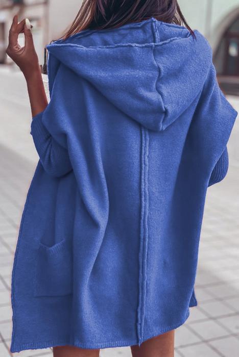 Sweter narzutka kardigan z kapturem 9434833335 Odzież Damska Swetry ED MGVTED-5