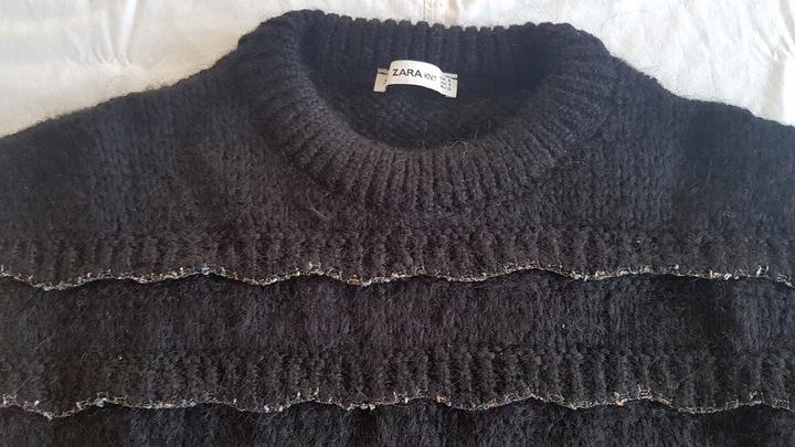 ZARA KNIT sweter CZARNY ciepły S 9571094219 Odzież Damska Swetry WF FLJZWF-2