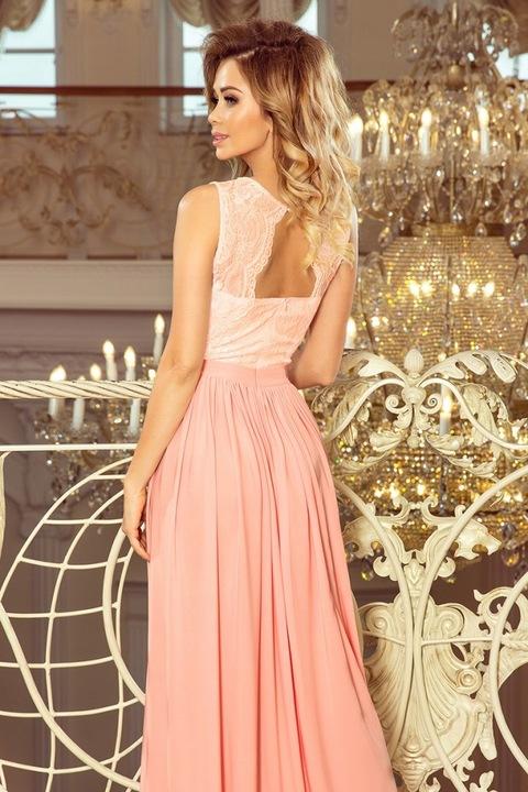 j8k 211-5 LEA długa suknia bez rękawkÓw XL 9678686857 Odzież Damska Sukienki wieczorowe SP GZXDSP-6