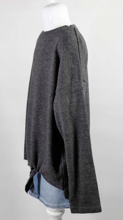 ZARA bluza oversize szara wiązana na dole 140 9206899209 Dziecięce Odzież GL MDVPGL-7