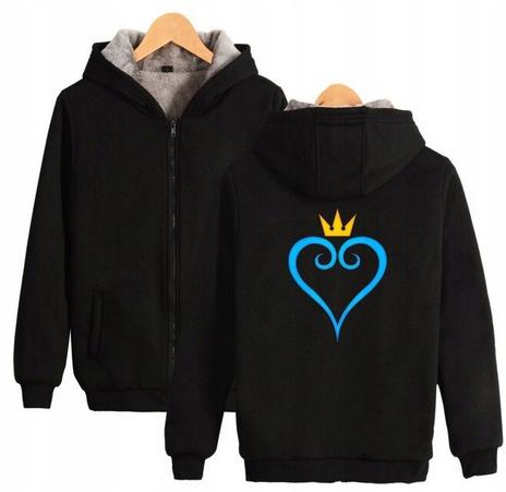 Warm hooded shirt with GRY Kingdom heart XS 34 9658450055 Odzież Damska Topy WH CFNMWH-8