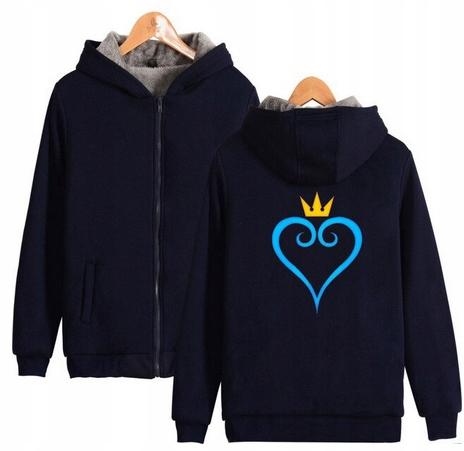 Warm hooded shirt with GRY Kingdom heart XS 34 9658447555 Odzież Damska Topy RB PFCGRB-9