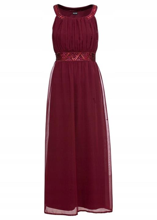 E93 BPC Sukienka maxi z aplikacją r.40 9806209119 Odzież Damska Sukienki wieczorowe EN ELGMEN-9