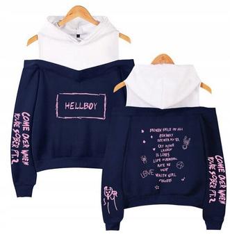 Warm Women's blouse MODNA lil peep HIT L 40 9658262298 Odzież Damska Topy RT DRFJRT-4